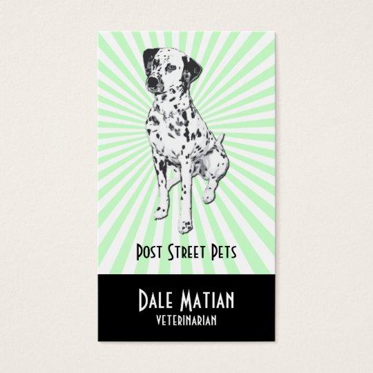 Perro dálmata tarjeta de negocios