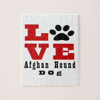 Perro de afgano del amor Designes Puzzle