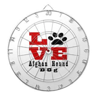 Perro de afgano del amor Designes Tablero Dardos