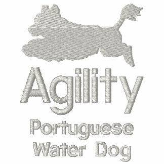 Perro de agua portugués de la agilidad