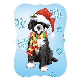 Perro de agua portugués feliz de Howlidays Invitación 12,7 X 17,8 Cm