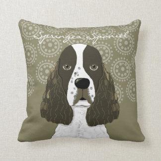 Perro de aguas de saltador inglés del personalizar cojín decorativo