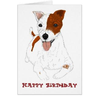 Perro de BirthdayCard Jack Russell Tarjeta De Felicitación