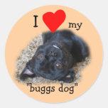 Perro de Buggs Pegatina-su imagen o mina