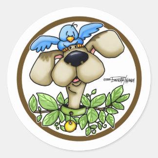 Perro de caza - círculo etiquetas redondas