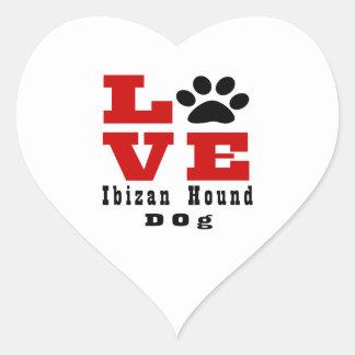 Perro de caza Designes de Ibizan del amor Pegatina En Forma De Corazón