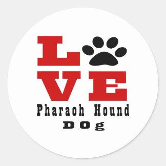 Perro de caza Designes del Pharaoh del amor Pegatina Redonda