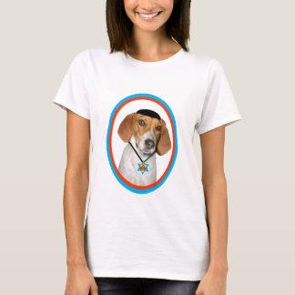 Perro de caza divertido de Thanksgivukkah con Camiseta