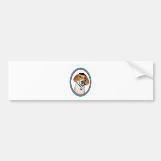 Perro de caza divertido de Thanksgivukkah con Yama Pegatina Para Coche