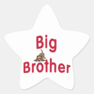 Perro de caza lindo mayor de hermano pegatina en forma de estrella