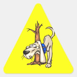Perro de caza pegatinas trianguladas personalizadas
