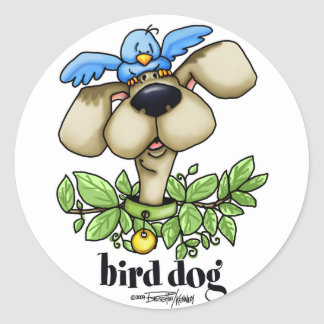Perro de caza - sin bckgrnd pegatina redonda