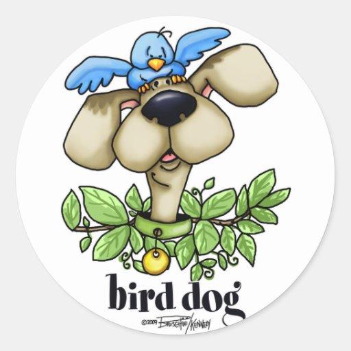 Perro de caza - sin bckgrnd etiquetas redondas