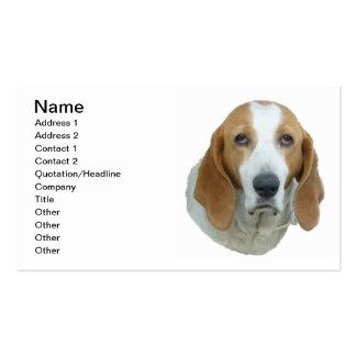 perro de caza Triste-observado Plantillas De Tarjetas Personales