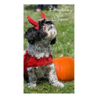 Perro de Halloween Shih Tzu Tarjeta De Visita
