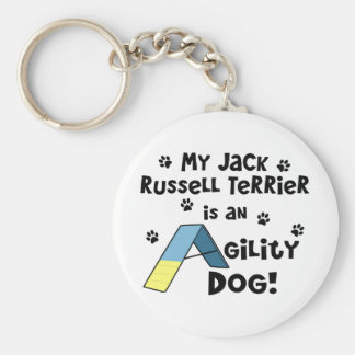 Perro de la agilidad de Jack Russell Terrier Llavero Personalizado