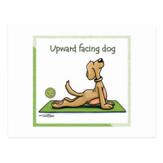 Perro de la yoga - actitud ascendente del perro de tarjetas postales