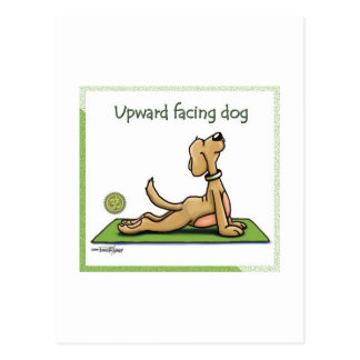 Perro de la yoga - actitud ascendente del perro de postal