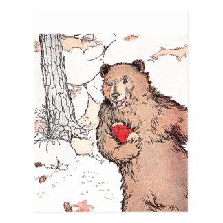 Perro de las praderas que lleva del oso de la postal