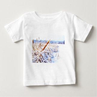 Perro de maíz en invierno camiseta de bebé