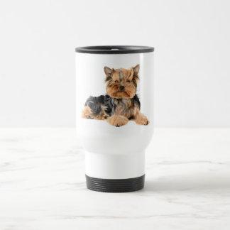 Perro de perrito de Yorkshire Terrier - viaje de Taza De Viaje