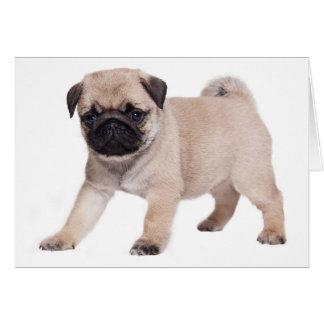 Perro de perrito del barro amasado del feliz tarjeta de felicitación