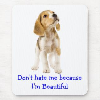 Perro de perrito del beagle - no me odie que soy alfombrilla de ratón