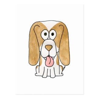 Perro de perrito del beagle postal