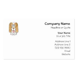 Perro de perrito del beagle tarjetas de visita