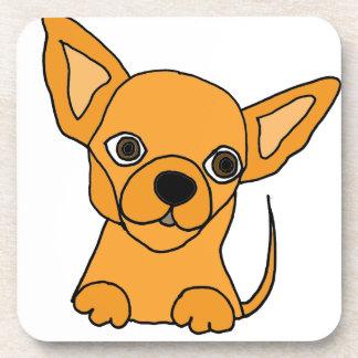Perro de perrito divertido de la chihuahua posavasos