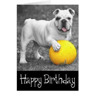 Perro de perrito inglés del dogo del feliz tarjeta de felicitación