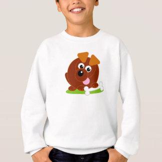 Perro de perrito lindo del marrón del estilo del sudadera