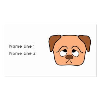Perro de perrito lindo tarjetas de visita
