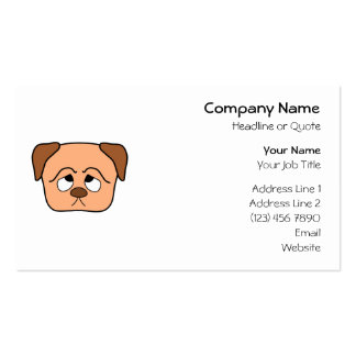 Perro de perrito lindo tarjeta personal