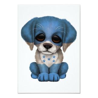 Perro de perrito patriótico lindo de la bandera invitación 8,9 x 12,7 cm