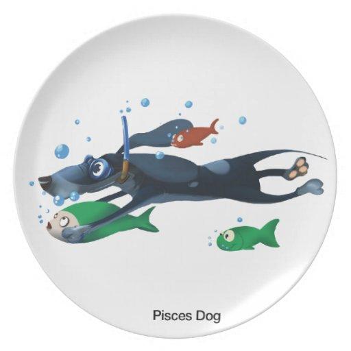 Perro de Piscis Platos