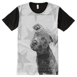 Perro de Pitbull por todo la camisa de la Camisetas Con Estampado Integral