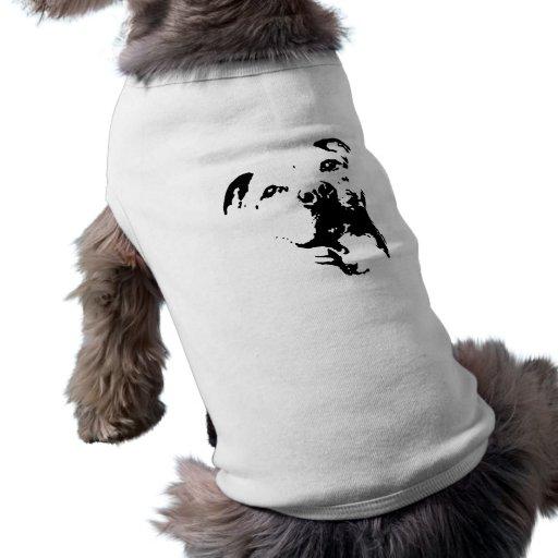 Perro de Pitbull Camisetas Mascota