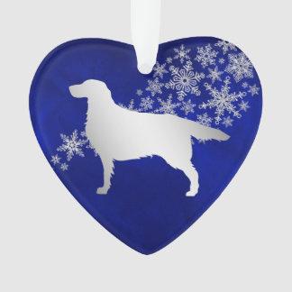 Perro de plata azul del organismo del copo de adorno