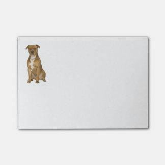 Perro de Staffordshire americano Terrier del Notas Post-it®
