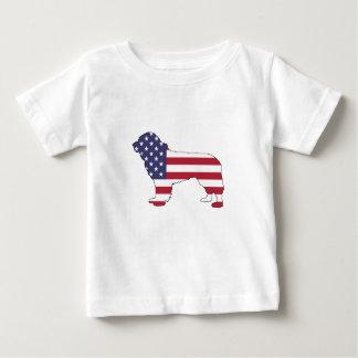 "Perro de Terranova - ""bandera americana "" Camiseta De Bebé"