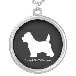 Perro de Terrier blanco de montaña del oeste silu Colgantes