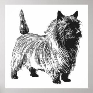 Perro de Terrier de mojón Posters