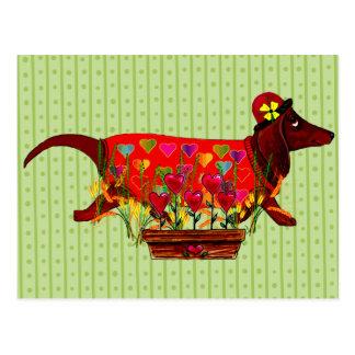 Perro de Weiner de la tarjeta del día de San