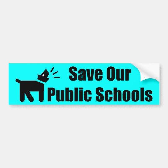 Perro del activista: Ahorre nuestras escuelas Pegatina Para Coche