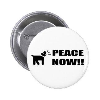Perro del activista Paz ahora Pins