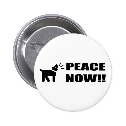 Perro del activista: Paz ahora Pins