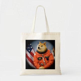perro del astronauta - dux - shibe - memes del dux bolso de tela