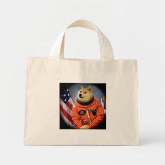 perro del astronauta - dux - shibe - memes del dux bolso de tela diminuto