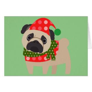 Perro del barro amasado del día de fiesta de las tarjeta de felicitación